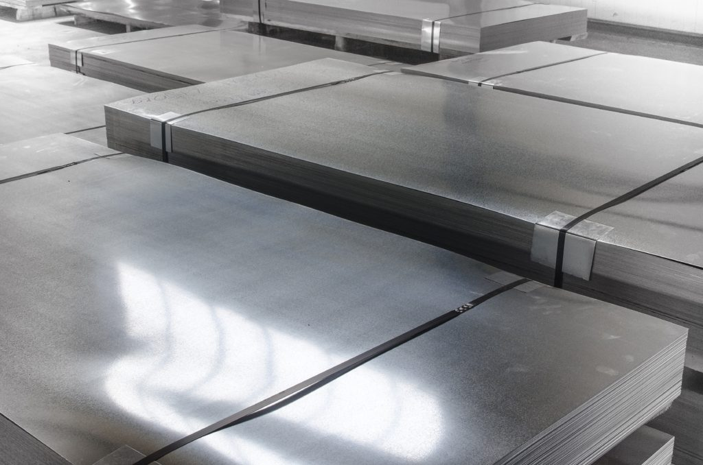 21892921 - sheet tin metal in production hall